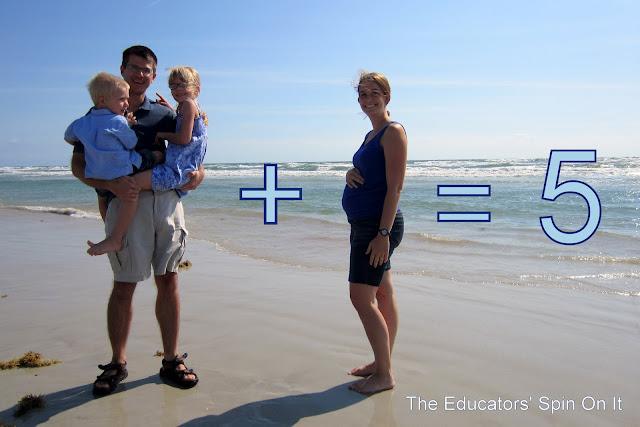 Beach pregnancy announcement