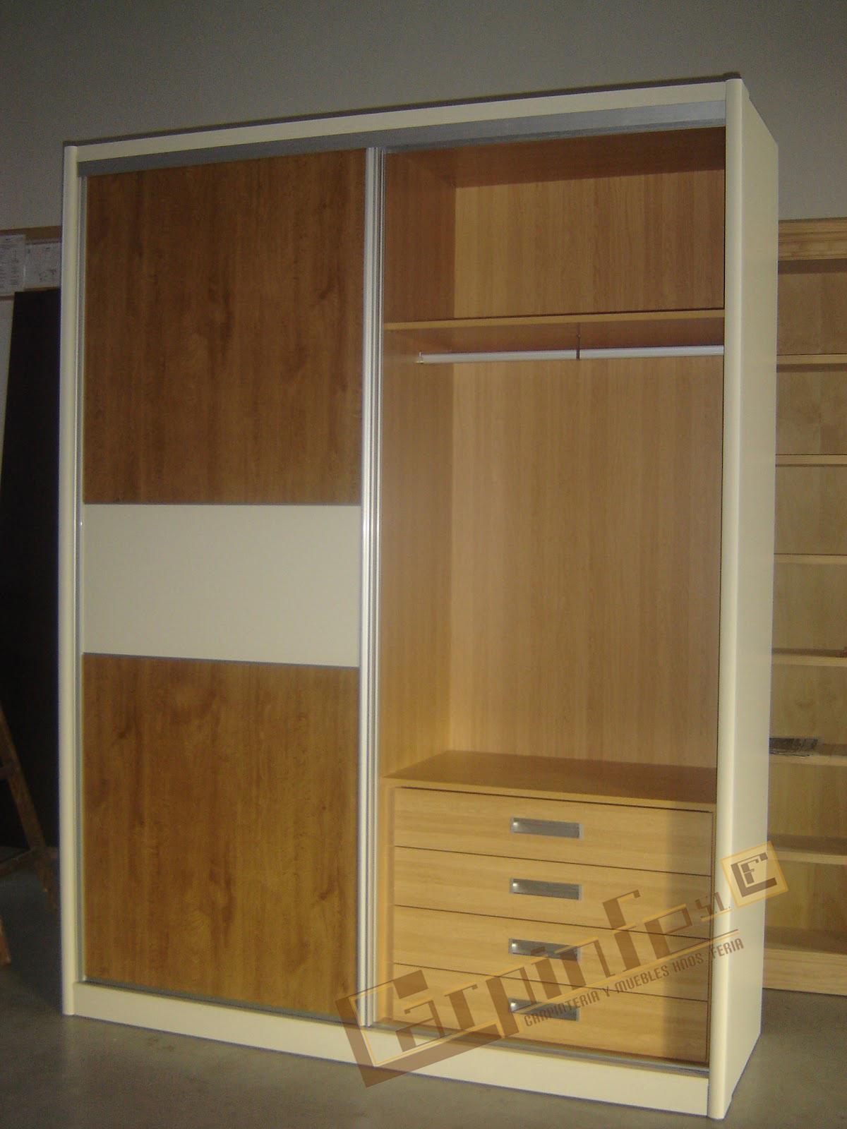 Carpinfe s l armario en melamina puerta corredera - Armario en l ...