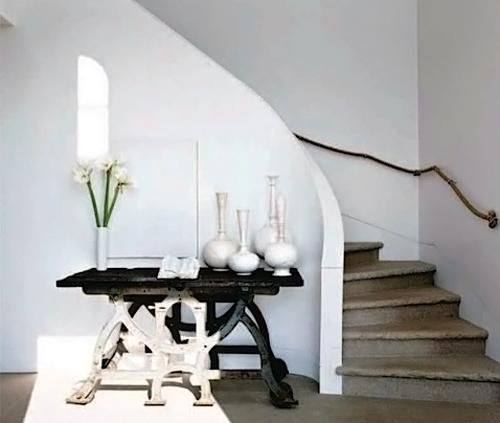 Baño Debajo De Escalera Con Ducha:Este hueco es mas espectacular y por eso mismo se ha decorado