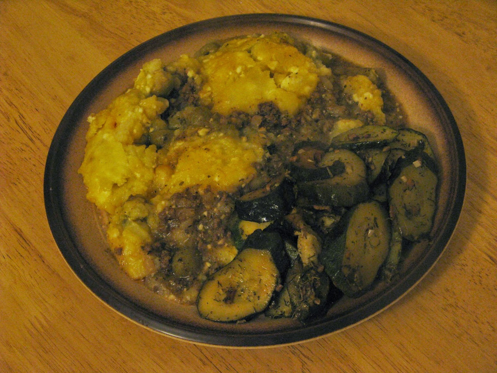 ... Mel's Kitchen: Recipe: Greek Shepherds Pie with Sauteed Courgettes