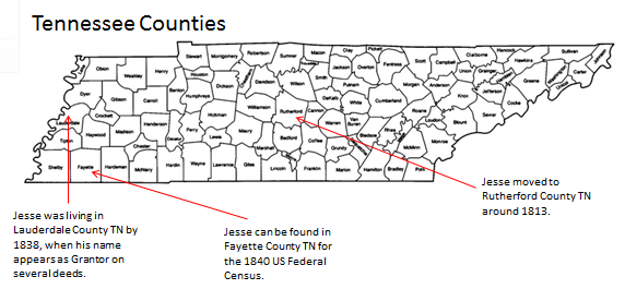 There Are No Less Than Three Jesse Days In Tn In 1820 One In Rhea One In Bledsoe And One In Rutherford County Our Jesse Is The One In Rutherford County