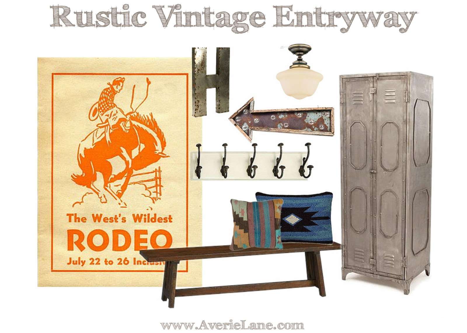 One Room Challenge -Vintage Rustic Entryway- REVEAL!! | Averie Lane ...