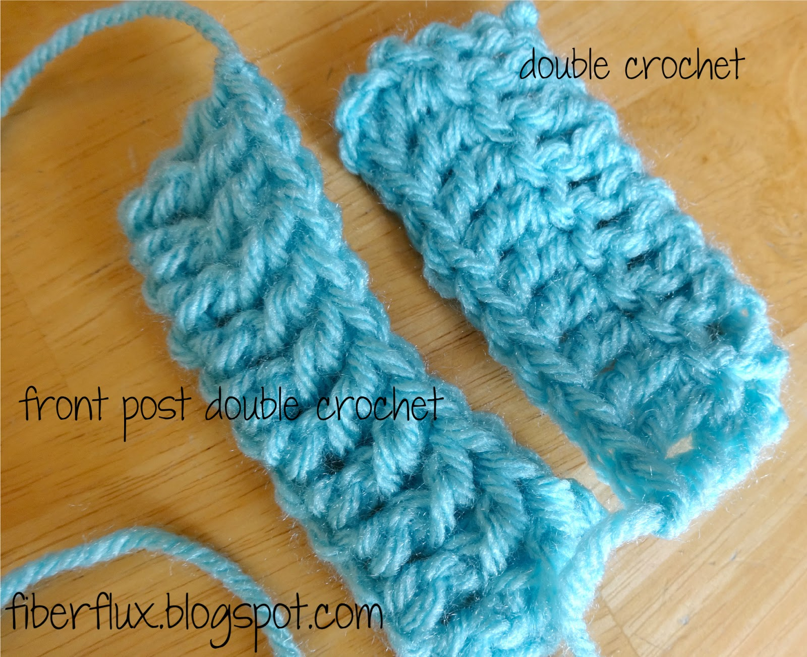 Crochet Stitches Back Post Double Crochet : Fiber Flux: How to Work the Front Post Double Crochet Stitch (fpdc)