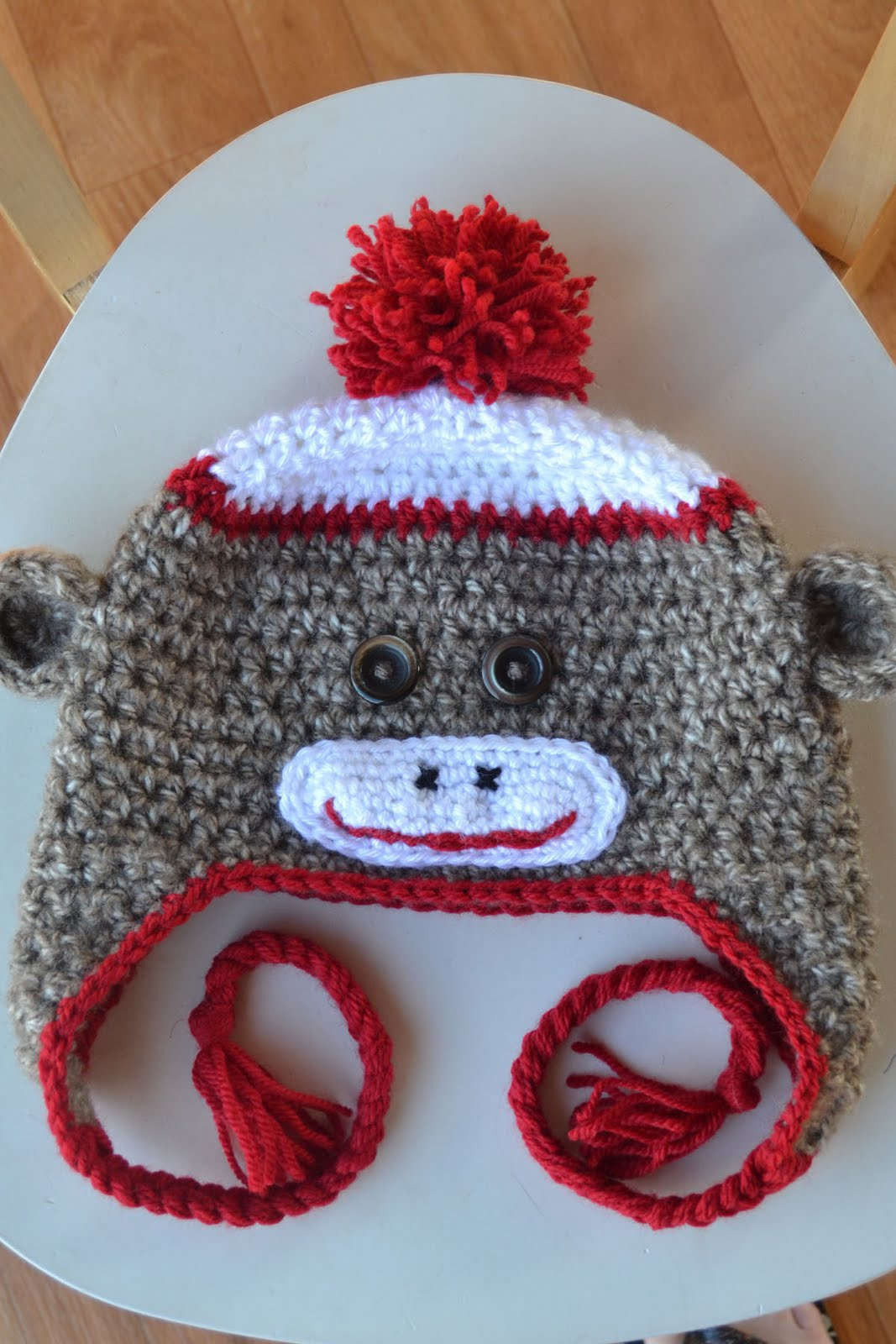 Free Crochet Patterns Monkey Hat : Sock Monkey Hat Crochet Pattern