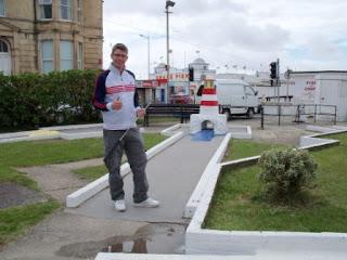 Fella's Crazy Golf course near the pier in Weston-super-Mare