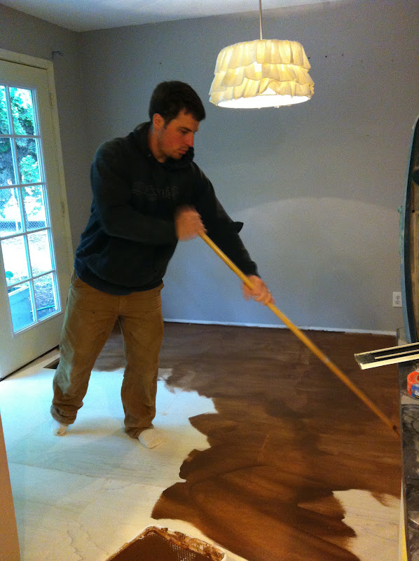 Roost reimagined diy plywood flooring for Low budget flooring ideas