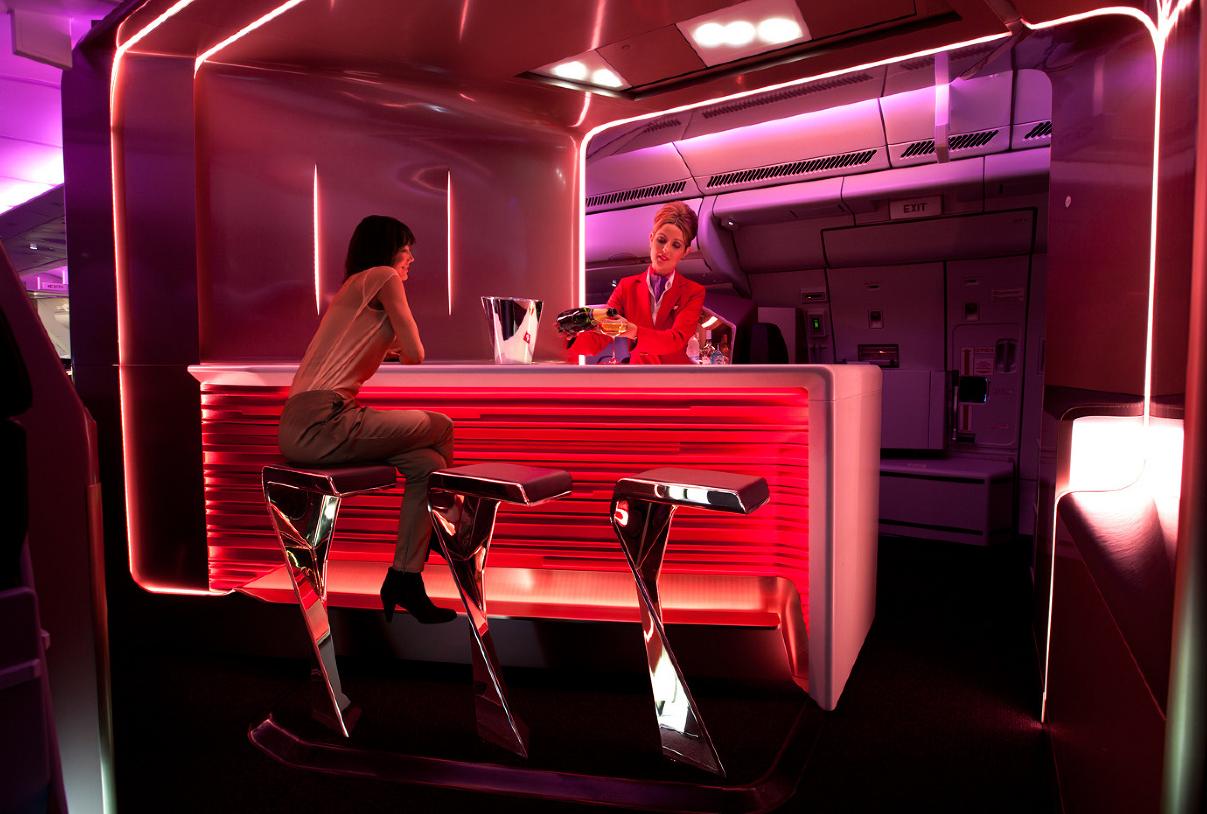 Light Architecture Virgin Atlantic S New Upper Class Bar