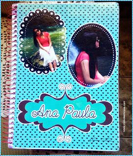 capa caderno personalizado