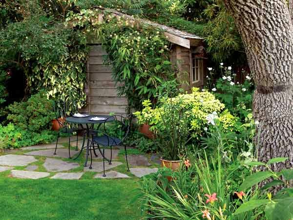 Arte y jardiner a dise o de jardines el jard n r stico for Adornos para jardines rusticos