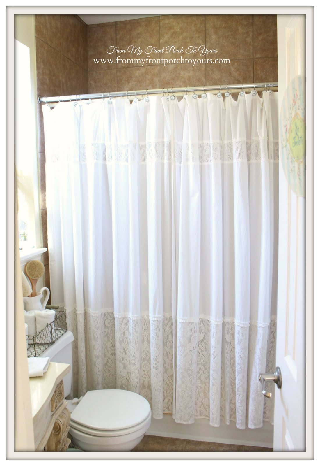 The best way to achieve a fuller shower curtain is to purchase two it