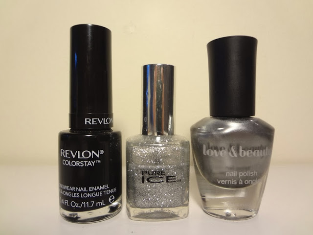 Stiletto by Revlon, Beware by Pure Ice and a Silver Grey by Love & Beauty