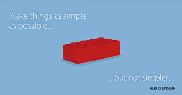 Quote: 'Make things as simple as possible...but not simpler.' -Einstein