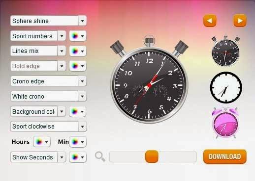 widget jam untuk blog - clock widget