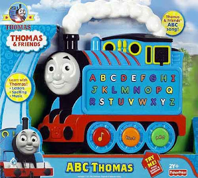 Baby learning ABC toy Thomas the train and friends engine alphabet letters word phrases also colors