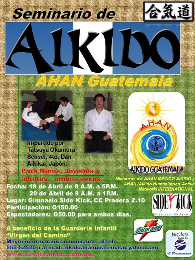 Afiche 3er. Seminario Aikido AHAN Guatemala