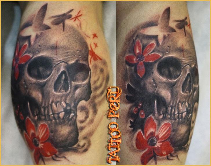 Tatuajes: Historia de los Tatuajes. Craneos_con_flores