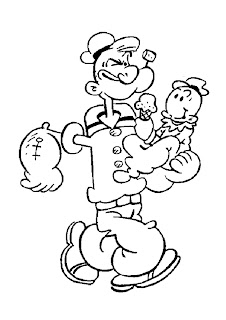 Popeye The Sailor Man Coloring Pictures