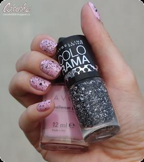 Avon - Pink Creme + Maybelline Polka Dots