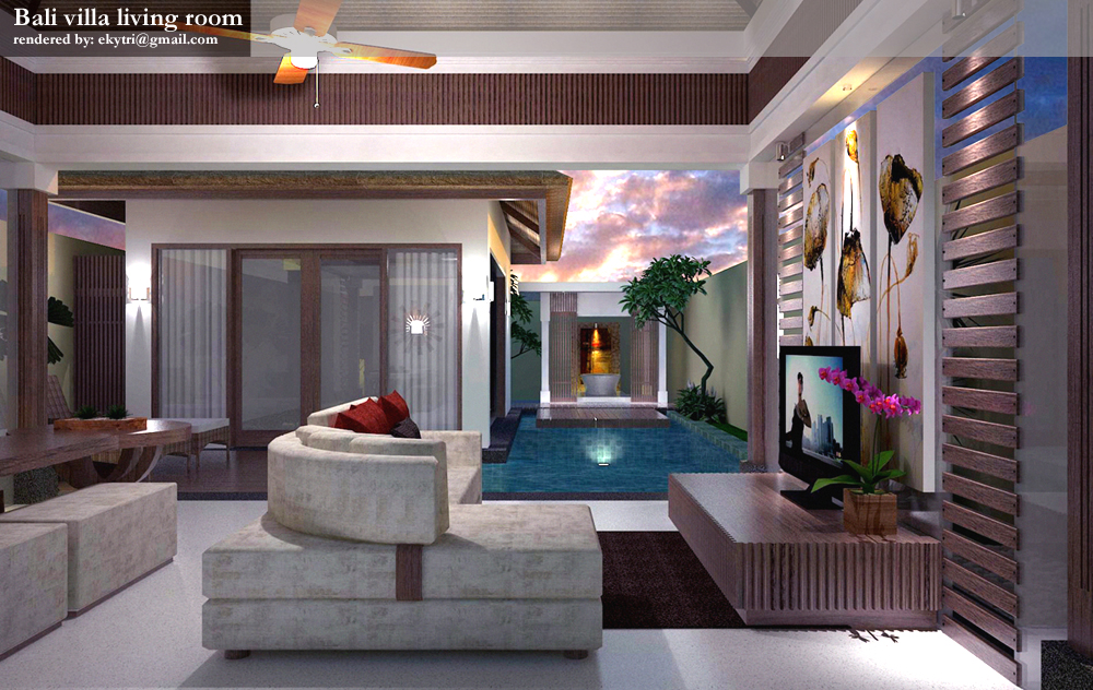 Bali Living Room Design Ideas