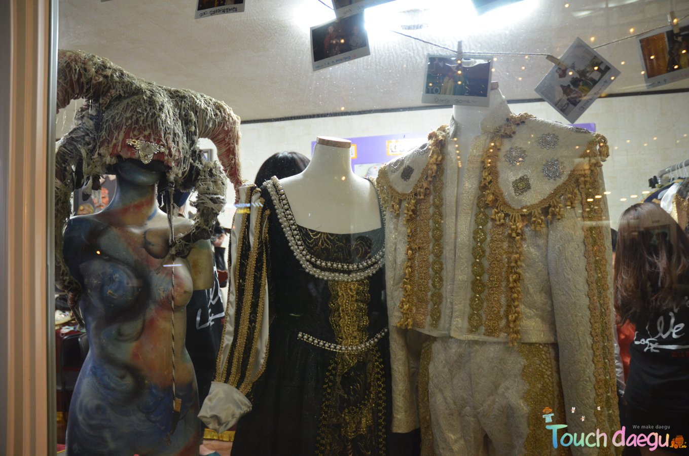 Costume are displayed in Daegu opera house