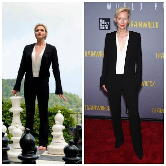 Princess Charlene of Monaco and Tilda Swinton wore the same Haider Ackerman jumpsuit.