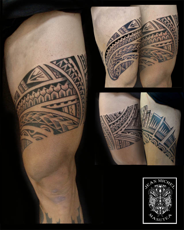 Tribal Leg Band Tattoo