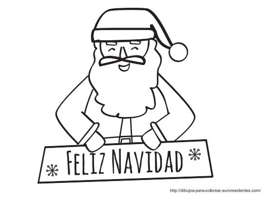 papa noel feliz navidad