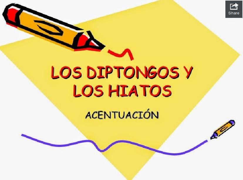 http://www.slideshare.net/profelengua/diptongos-e-hiatos-2?ref=http://nuestroblogde5primaria.wordpress.com/lengua/04-poemas-de-verano/la-tilde-en-el-hiato/