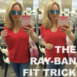 RayBan Fit Trick