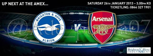 Brigton Albion VS Arsenal Piala FA Inggris (Sabtu, 26 Januari 2013