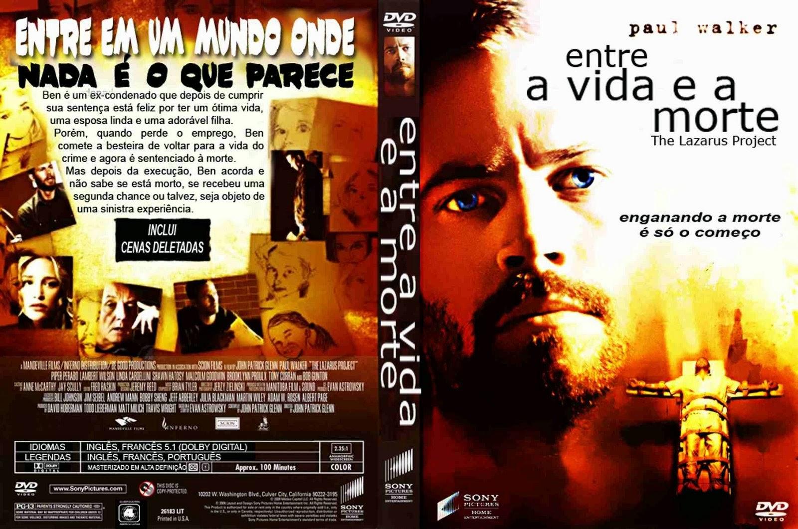 Filme Entre a Vida e a Morte DVD Capa