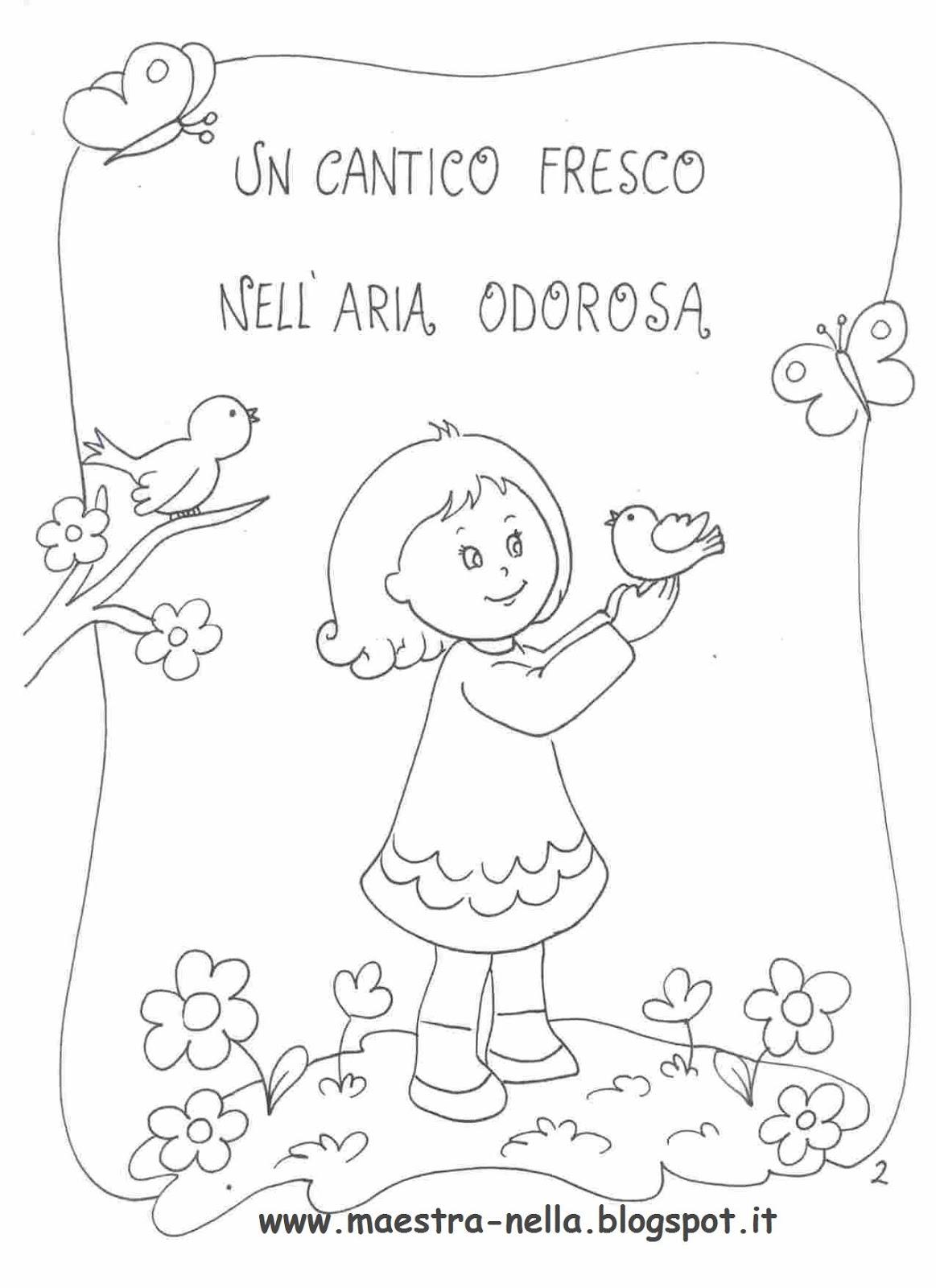 Popolare maestra Nella: Primaverapoesia illustrata IQ62