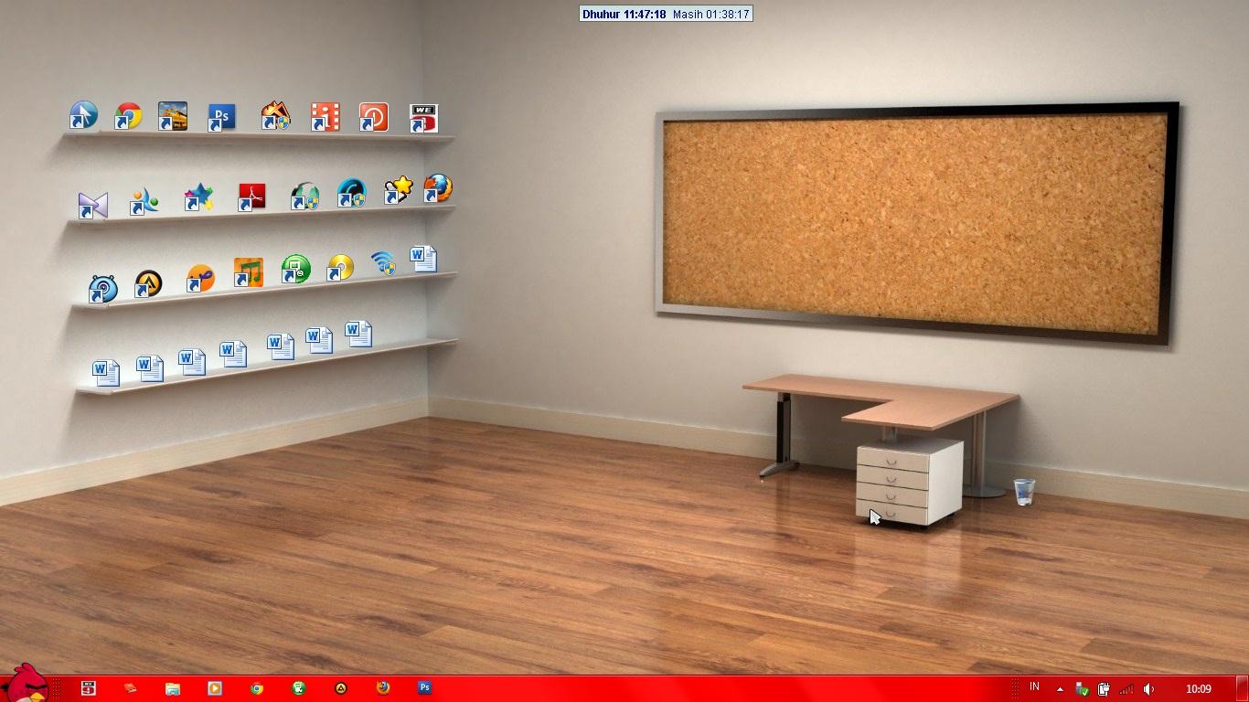 Hias Desktop Anda Dengan 3D Interior Wallpaper About IT