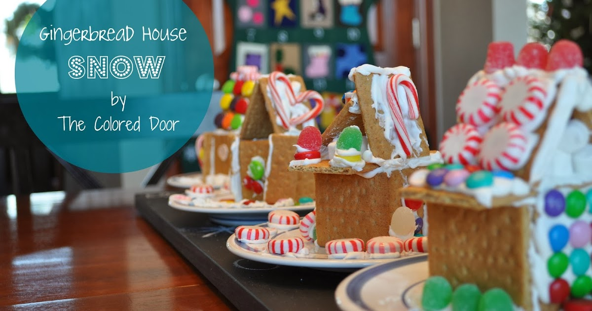 The Colored Door Make Your Own Gingerbread Snow Glue