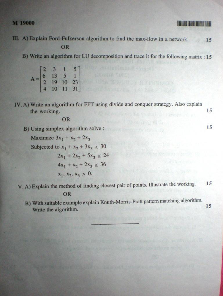 Dda Line Drawing Algorithm In C Language : Advanced topics in algorithms previous question paper