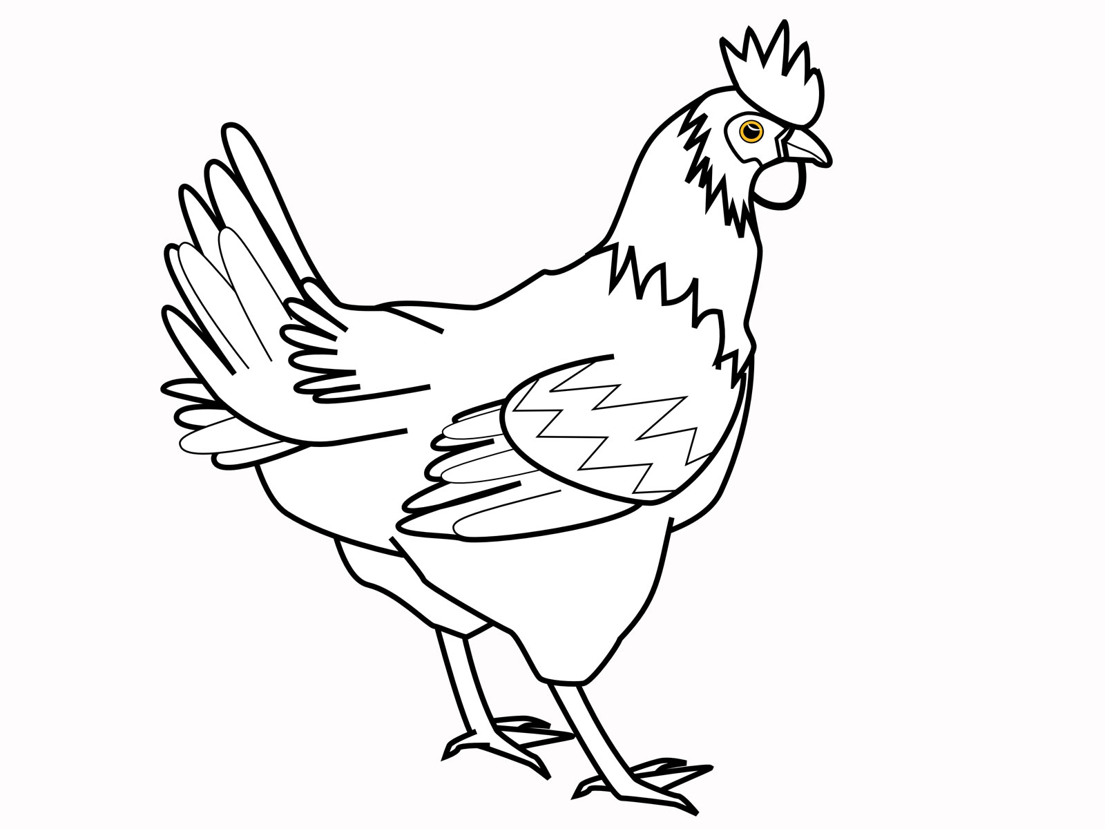 Chicken Animal Names And Pictures Chicken Coloring Pages