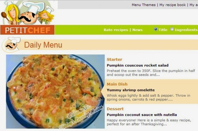 ptitchef features shrimp omelette recipe