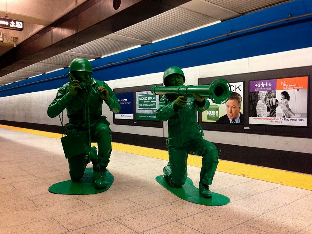 Plastic Army Men Costume - Couple has one of the coolest costumes of the year! & Halloween Makeup Tutorials Costume Ideas and Party Planning - The ...