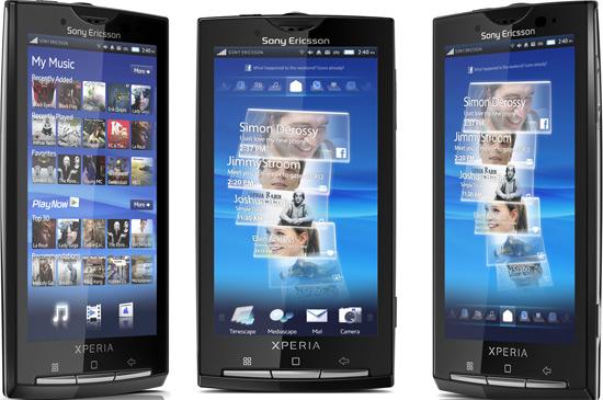 Sony Ericsson Xperia X10 PSD GUI