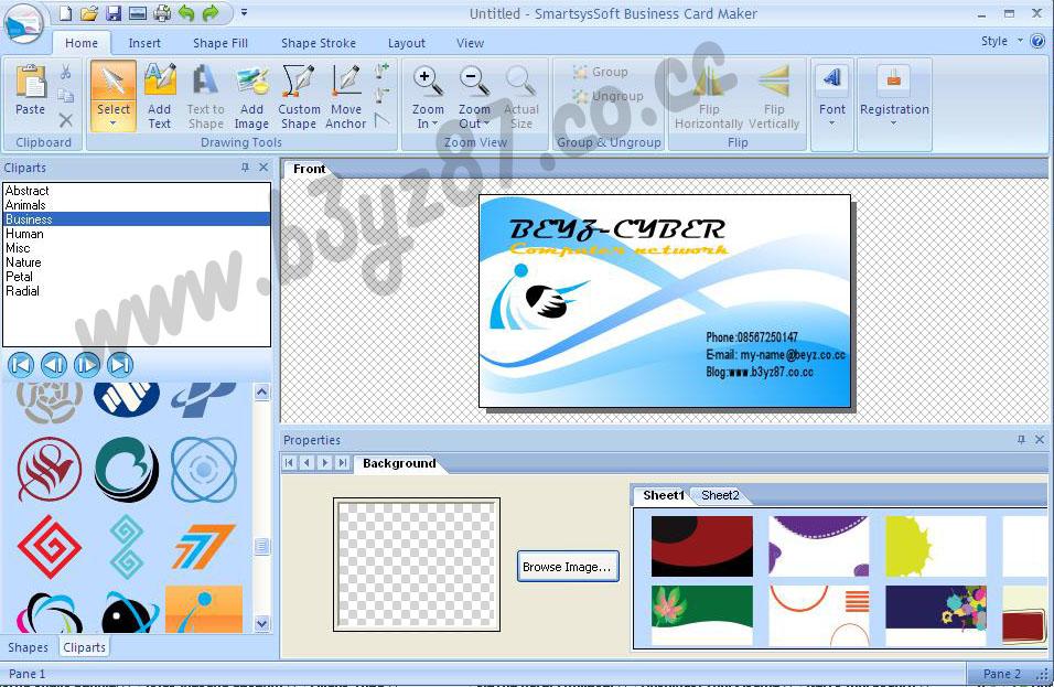 SmartsysSoft Business Card Maker v2.20   tes