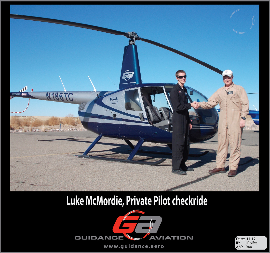 Private Pilot Helicopters  Luke McMordie  Guidance Aviation