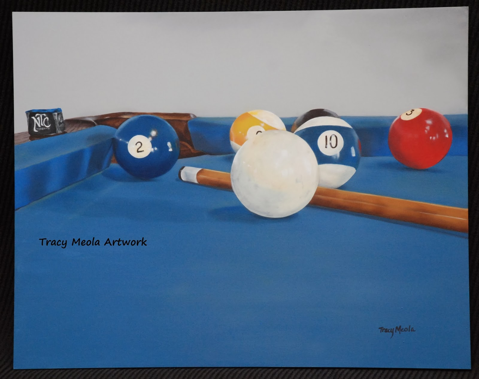 Billiards Painting Stopped In The Middle Of The Game - Pool table painting