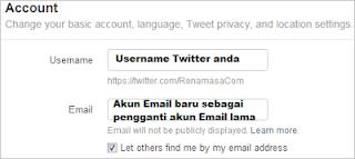 Akun Email Twitter