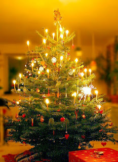 Romantic Christmas Tree full of candles