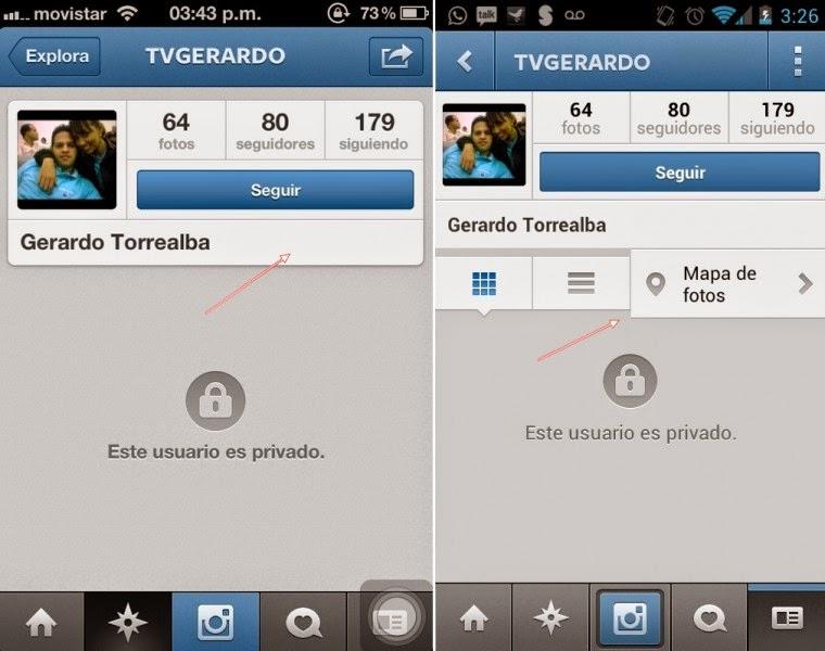 acceder a perfil privado instagram