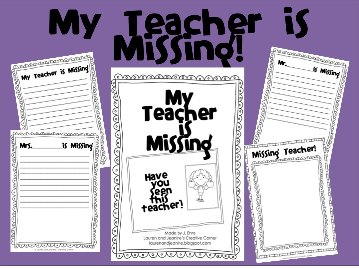 Lauren and Jeanines Creative Corner My Teacher is Missing Activity – Miss Nelson is Missing Worksheets