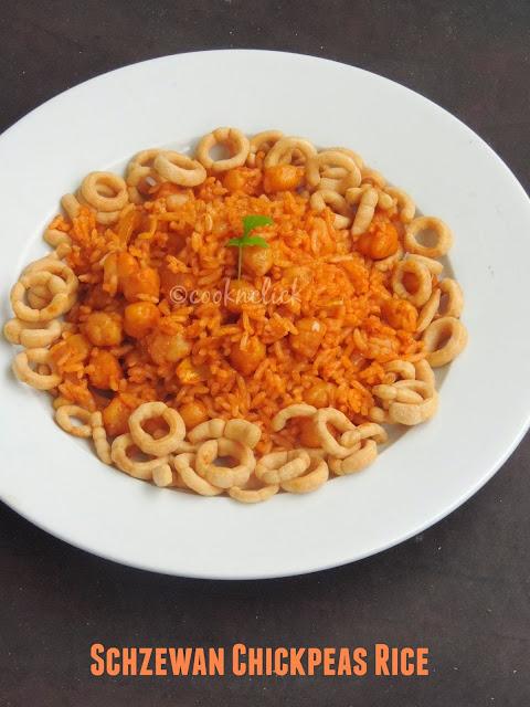 Chickpeas Rice-Schzewan style
