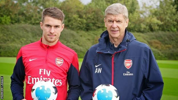 aaron ramsey and wenger