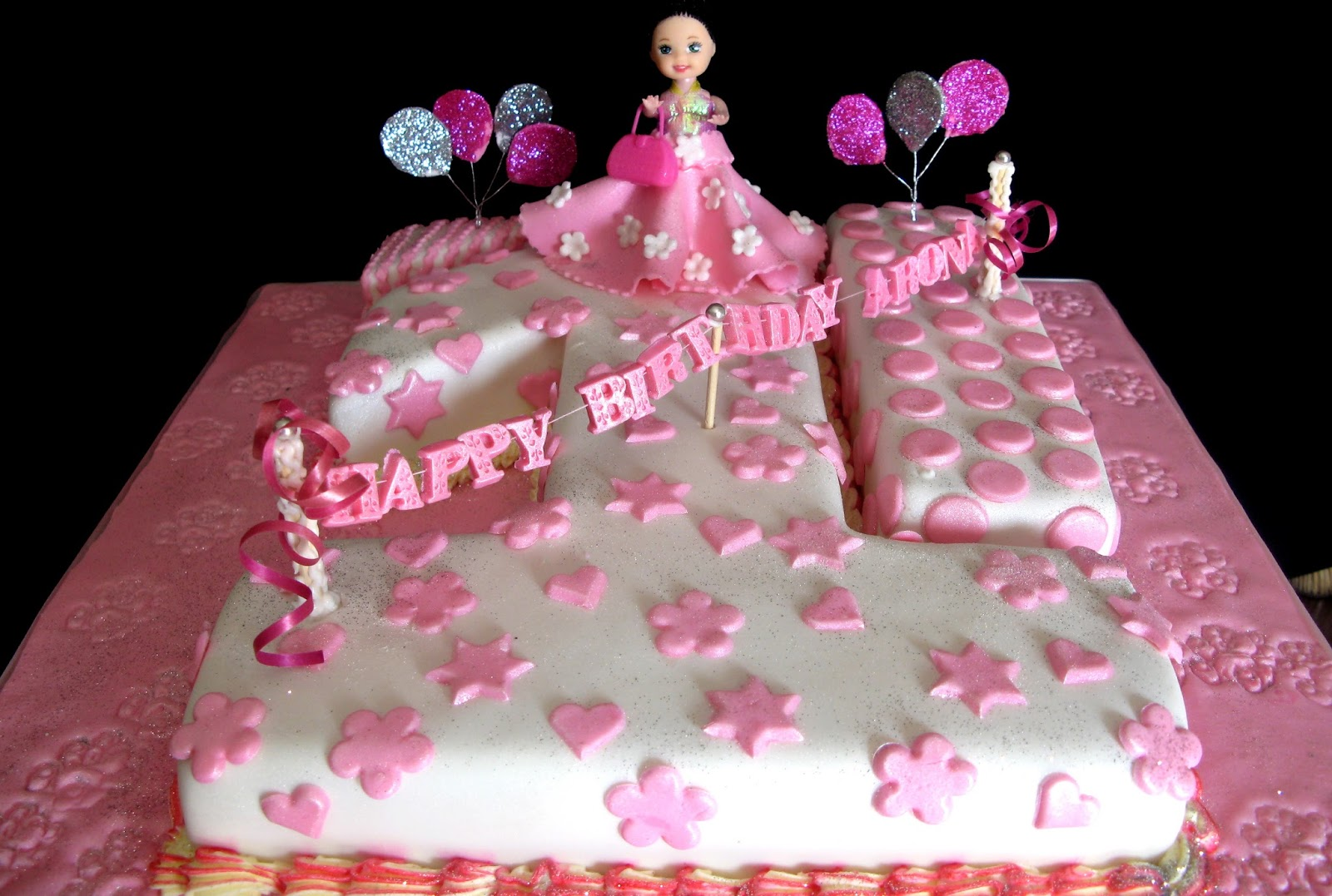 Sugarcraft by Soni Ist Birthday Cake Banner