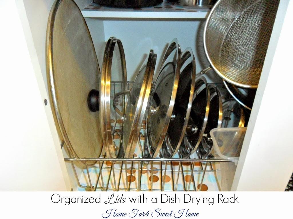 organized lids, pots & pans